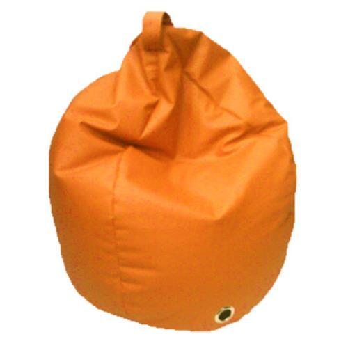 Foto POUF PUFF PUF POLTRONA A SACCO IN ECOPELLE SUPERBA 80X120CM COLORE ARANCIO MADE IN ITALY Safemi