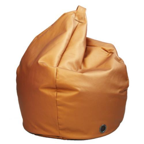Foto POUF PUFF PUF POLTRONA A SACCO IN ECOPELLE SUPERBA 80X120CM COLORE BRONZO MADE IN ITALY Safemi Pouff
