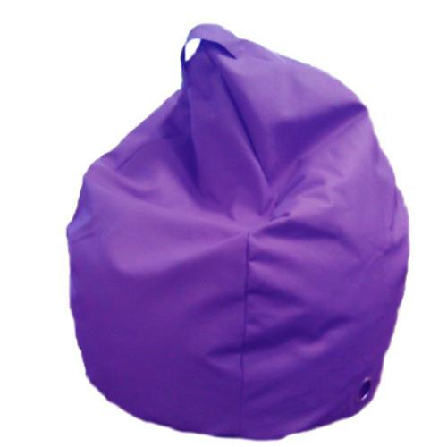Foto POUF PUFF PUF POLTRONA A SACCO IN ECOPELLE SUPERBA 80X120CM COLORE VIOLA MADE IN ITALY Safemi
