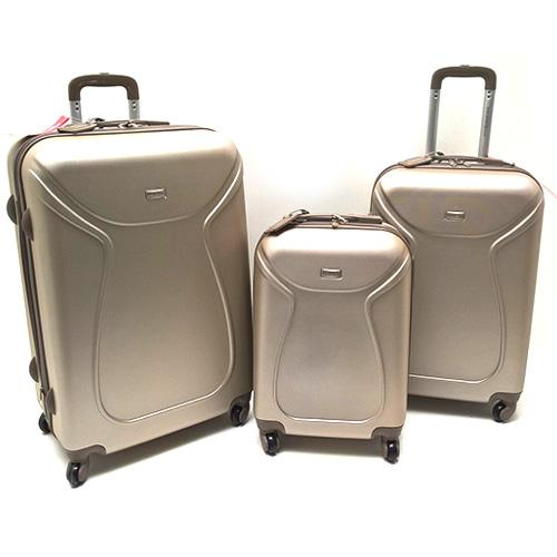 Foto SET 3 VALIGIE RIGIDE TROLLEY 4 RUOTE BEIGE IN ABS YOU YOUNG COVERI Set Completi