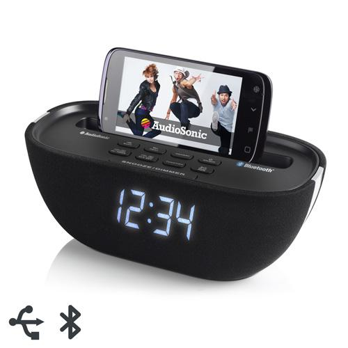 Foto Radio Sveglia Bluetooth Audiosonic Cl1462 giordanoshop.com Sveglie