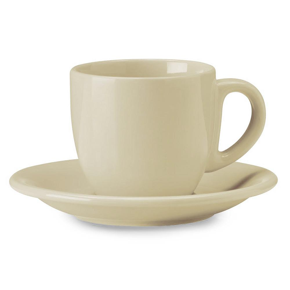 Image of Tazza da The Cappuccino con Piatto in Gres Kaleidos Avorio