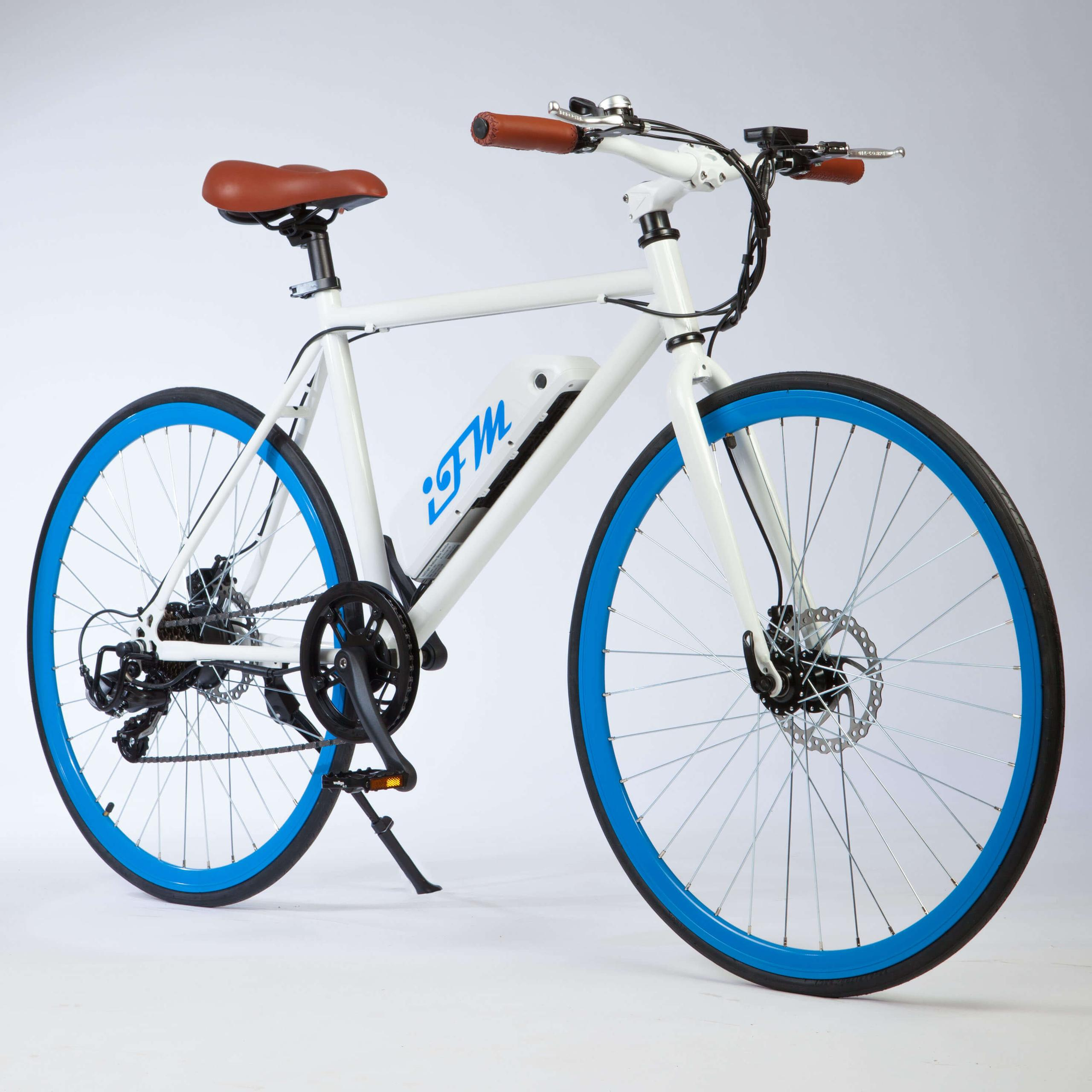 "Image of Bicicletta Elettrica Uomo 26"" IMT City Bike Blu"