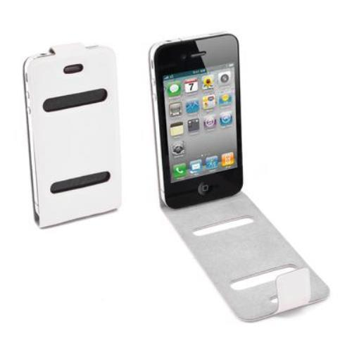 Image of Custodia Verticale Sottile Per Iphone 4 Bianco