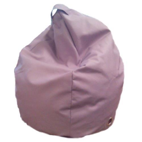 Foto POUF PUFF PUF POLTRONA A SACCO IN ECOPELLE SUPERBA 80X120CM COLORE LILLA MADE IN ITALY Safemi