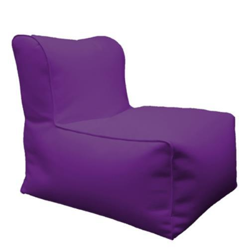 Foto POUF PUFF PUF POLTRONA IN ECOPELLE 60X90X80CM COLORE VIOLA MADE IN ITALY Safemi