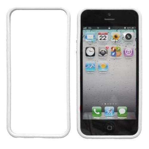 Image of Custodia Bumper In Silicone Tpu Per Iphone 5 Bianco