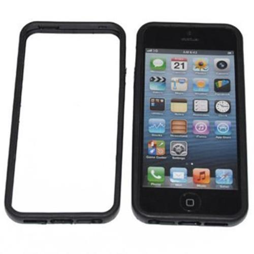 Image of Custodia Bumper In Silicone Tpu Per Iphone 5 Nero