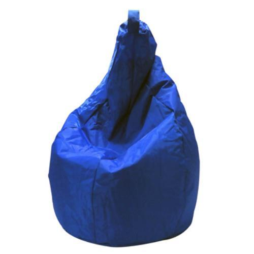 Foto POUF PUFF PUF POLTRONA A SACCO IN NYLON 80X120CM COLORE BLU MADE IN ITALY Safemi