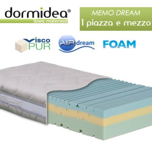 Foto MATERASSO MEMO DREAM 1 PIAZZA E MEZZO IN  MEMORY FOAM E AIR DREAM 3 STRATI 7 ZONE 120X190X25 CM DORMIDEA Materassi in Memory