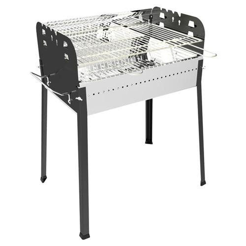 Image of Barbecue A Carbone Carbonella In Acciaio 65X48X84 Cm Ferraboli Sirio
