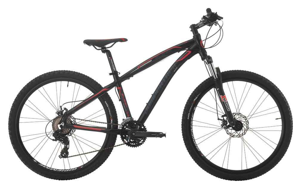 "Image of Bicicletta Mountain Bike MTB Uomo 27,5"" H39 21V Cicli Cinzia Sleek Mechanik Man Aluminium 27,5 Nera e Rossa"