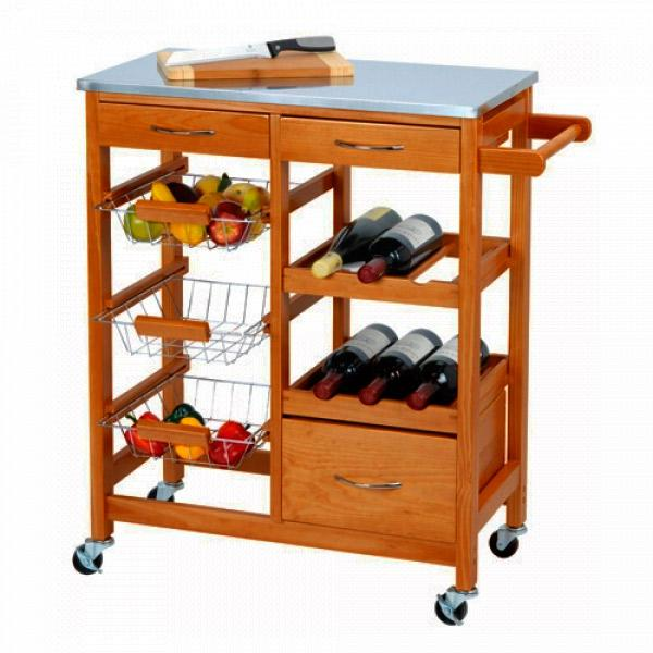 Foto Wooden Kitchen Trolley giordanoshop.com Carrelli da Cucina