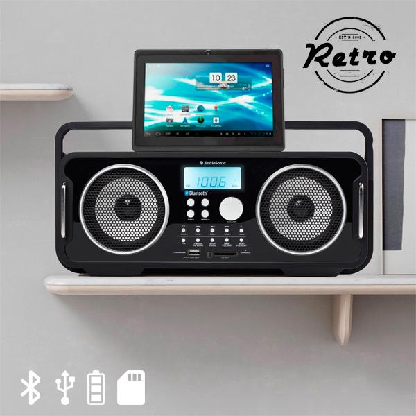 Foto Radio Retrò Bluetooth Ricaricabile Audiosonic Rd1556 giordanoshop.com