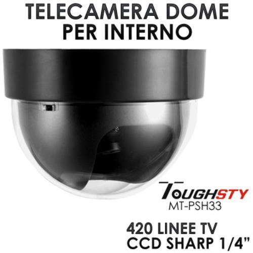 Image of Mini Telecamera Dome Ccd Sharp 1,4&Quot Lente 3,6 Mm Per Interno Toughsty