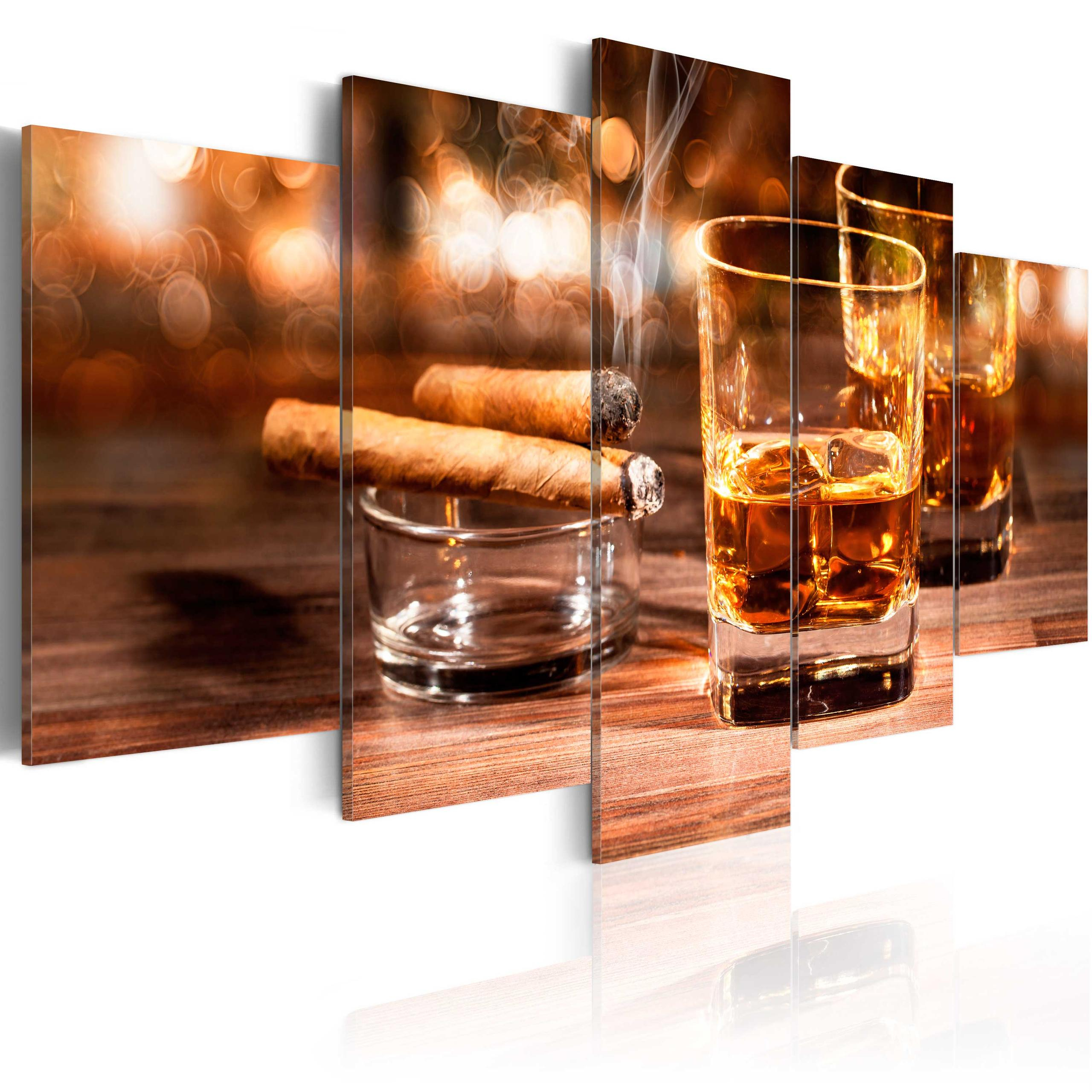 Quadro Whiskey E Sigaro 100X50Cm Erroi