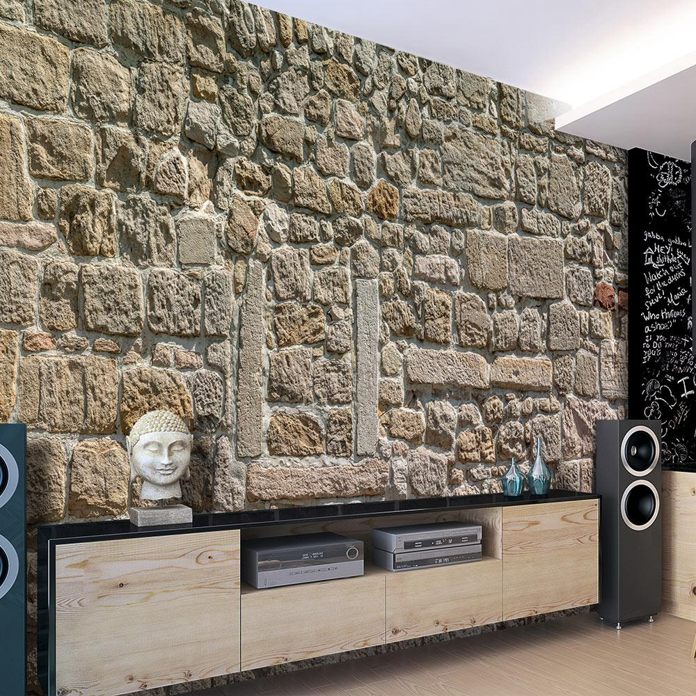 Image of Carta Da Parati Fotomurale - Wall From Stones 100x70cm Erroi