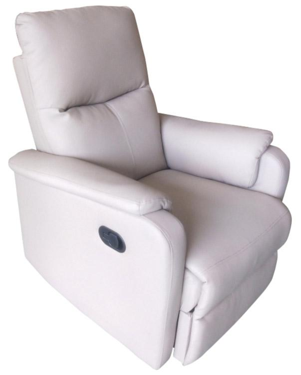 Image of Poltrona Relax Reclinabile Manuale in Ecopelle PK Life Michy Recliner Cappuccino