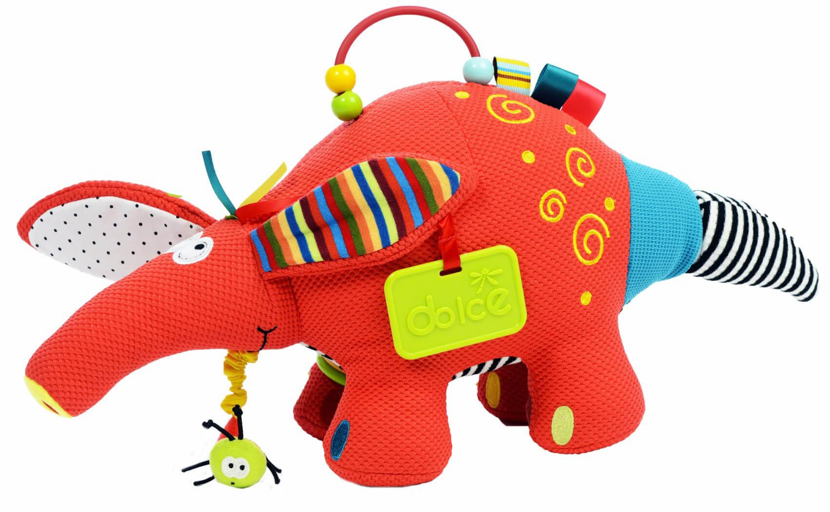 Image of Formichiere Peluche per Bambini Dolce Rosso