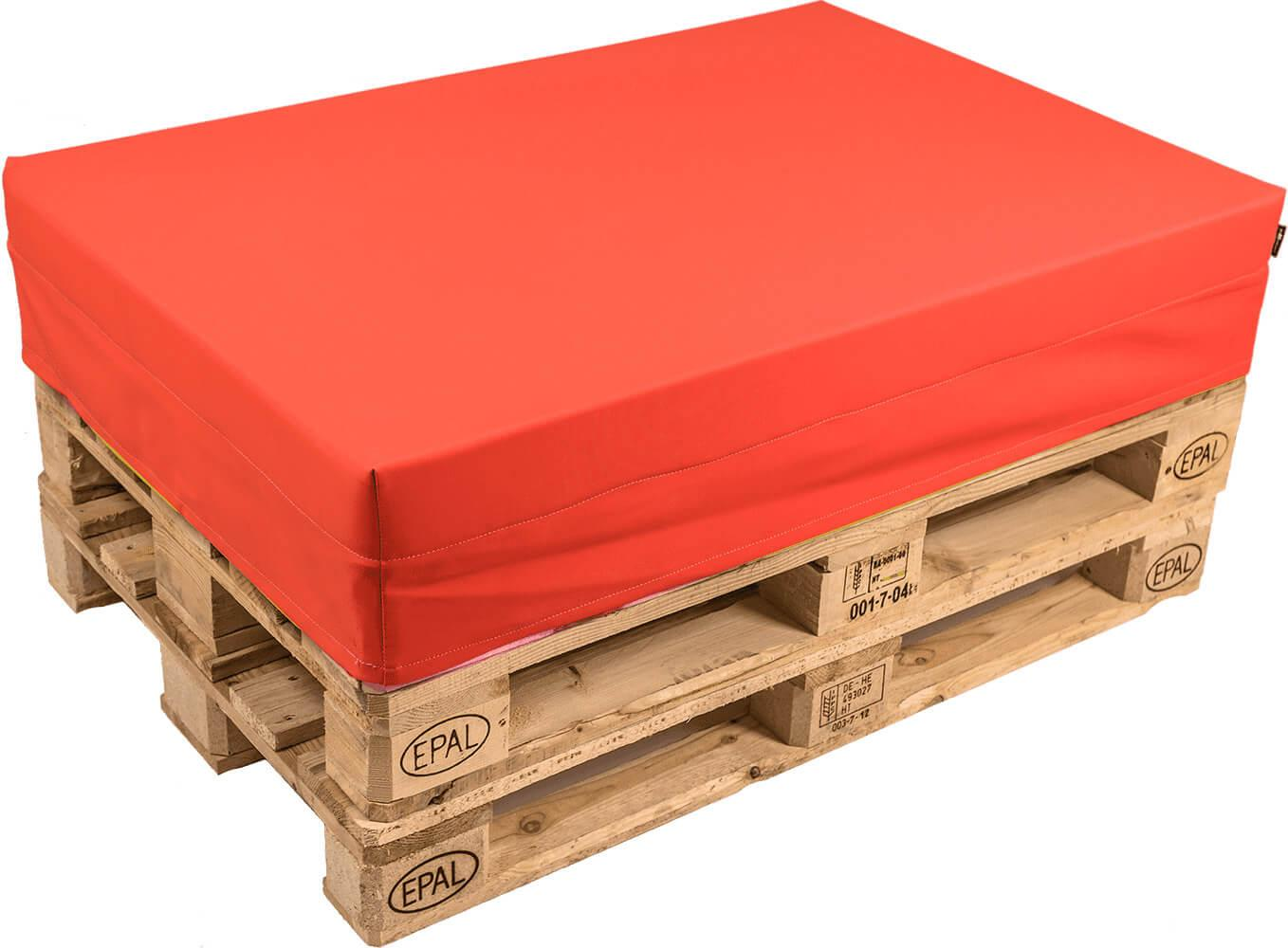 Image of Cuscino per Pallet 120x80cm in Ecopelle Pomodone Rosso
