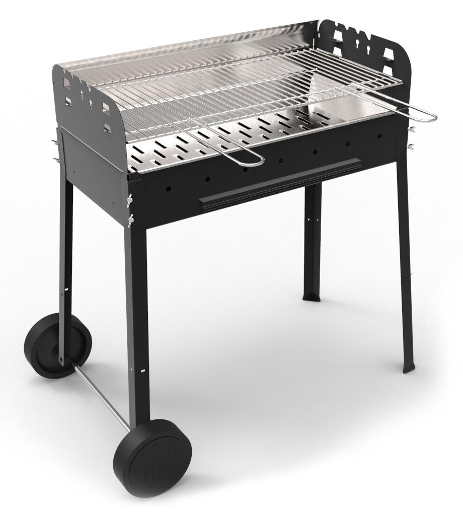 Image of Barbecue A Carbone Carbonella In Acciaio Ferraboli Pegaso