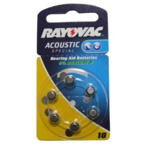 Blister 6 Pile Acustiche Rayovac V10 Pr70 4610,945,406