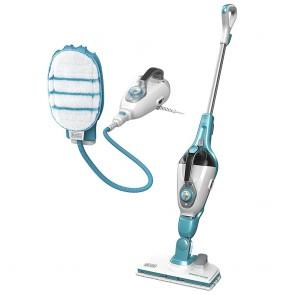 Scopa a Vapore Lavapavimenti Steam-mop + Guanto SteaMitt 13in1 Black + Decker