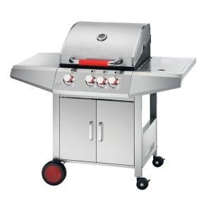 Barbecue A Gas 3 Bruciatori con Ripiani New Top Inox Ferraboli