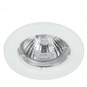 Kit 3 Faretti a Incasso Metallo Nikel Tondi Soffitto Ribassato Led 18 watt Luce Calda Intec INC-MATRIX-LEDF3