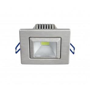Faretto Alluminio Nikel Orientabile Incasso Cartongesso Led 5 watt Luce Fredda Intec INC-POUND-5F