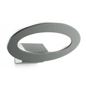 Applique Anello Alluminio Silver Esterno Led 7 watt Luce Calda Intec LED-EROS-AP