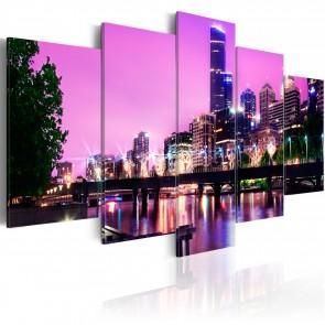 Quadro - Night Urban City Skyline - Melbourne Erroi