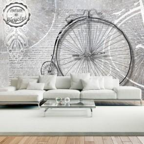 Fotomurale - Vintage Bicycles - Black And White Carta Da Parato Erroi