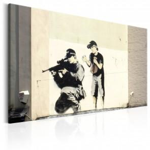 Quadro - Sniper And Child By Banksy Erroi