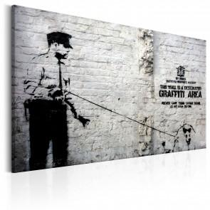 Quadro - Graffiti Area Police And A Dog By Banksy Erroi