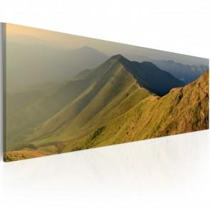 Quadro - Canvas Print - Mountains At Sunset 120x40cm Erroi