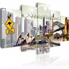 Quadro - Welcome To Australia! 100x50cm Erroi