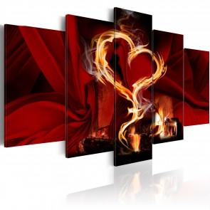 Quadro - Flames Of Love - Heart 100x50cm Erroi