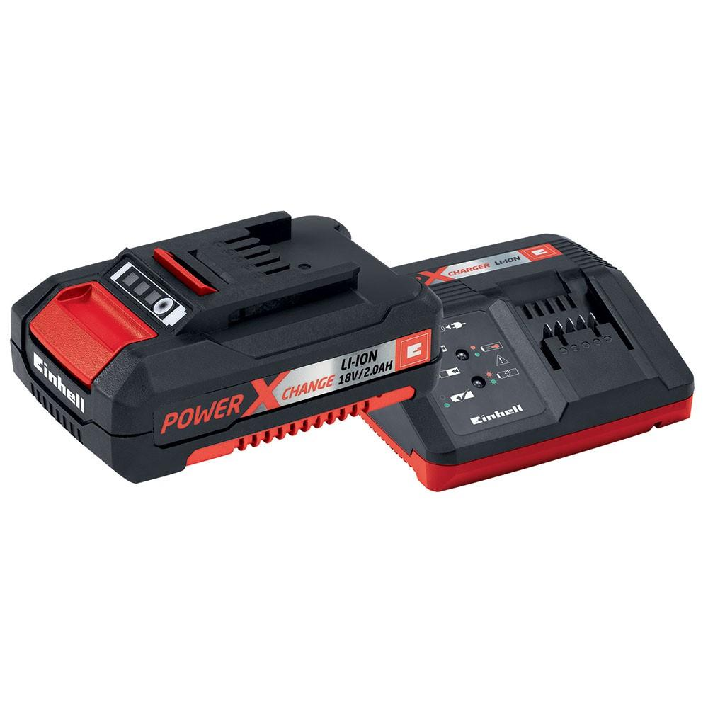 Batteria a Litio e Caricabatterie einhell Power-X-Change 18V 2,0 Ah Starter-Kit