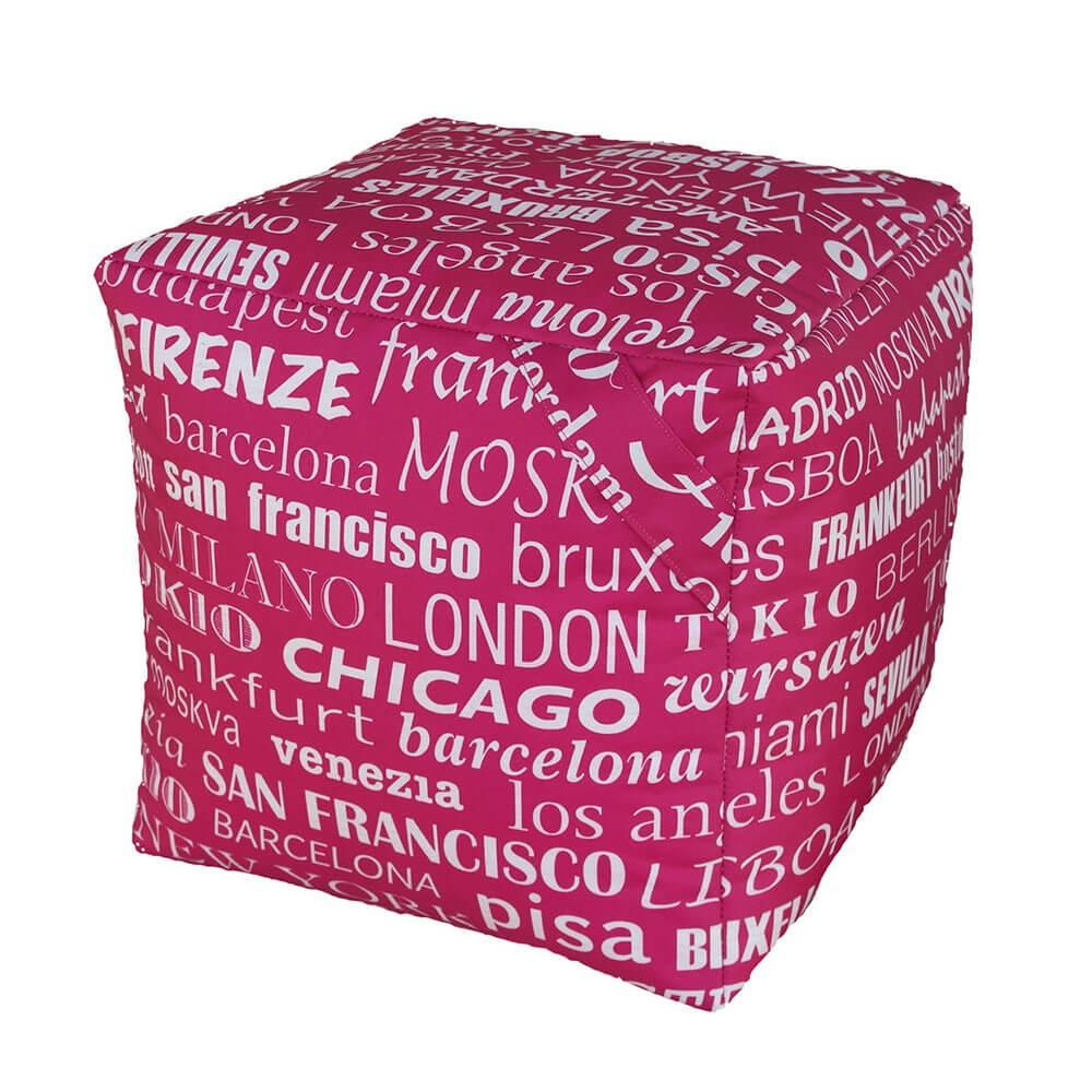 Pouf Puff Puf Cubo 40x40x40cm Big City Fucsia Avalli