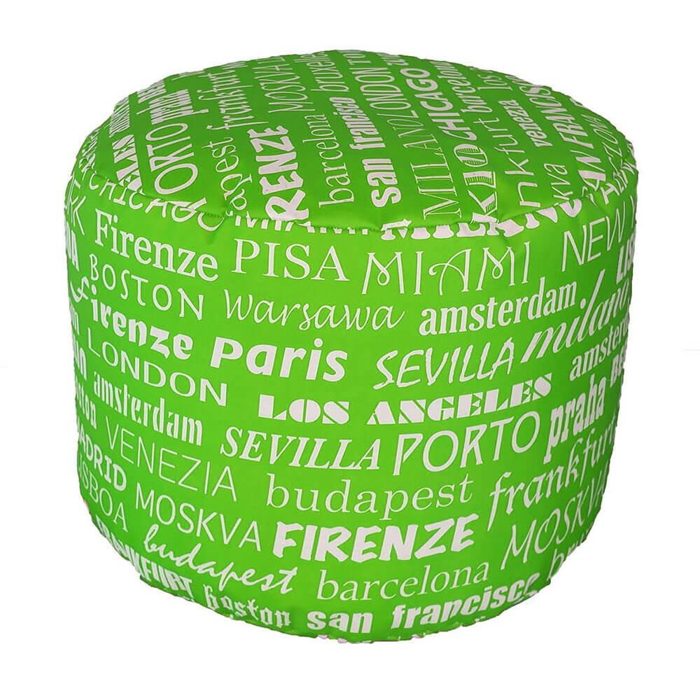 Pouf Puff Puf Tondo 50x40cm Big City Verde Avalli