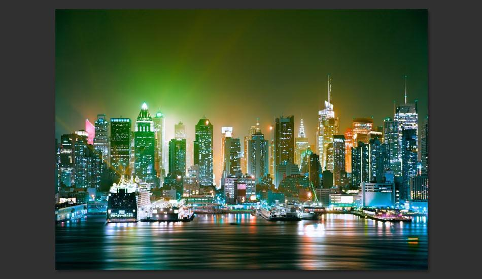 Fotomurale - Ny: Enlightened Harbour 300X210Cm Carta Da Parato Erroi