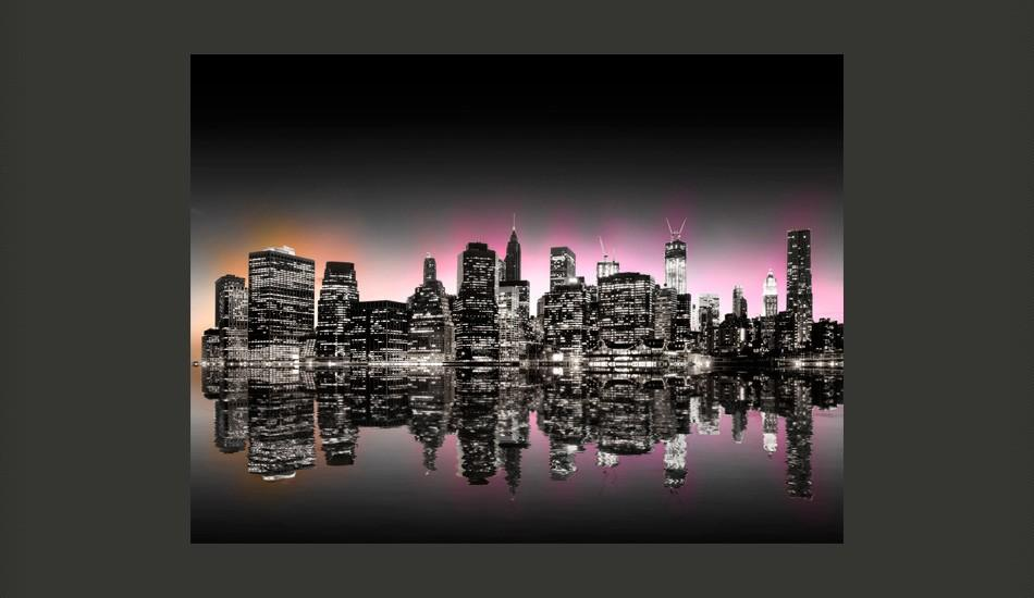 Fotomurale - Colorful Glow Over Nyc 400X309Cm Carta Da Parato Erroi