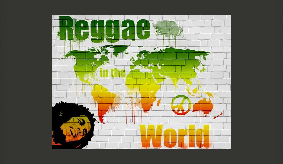 Fotomurale - Reggae In The World 400X309Cm Carta Da Parato Erroi