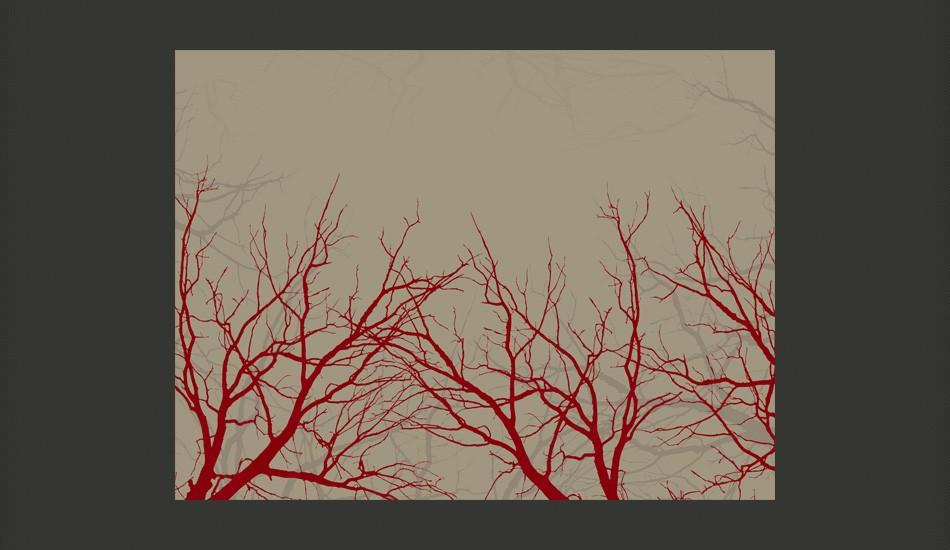 Fotomurale - Red-Hot Branches 400X309Cm Carta Da Parato Erroi