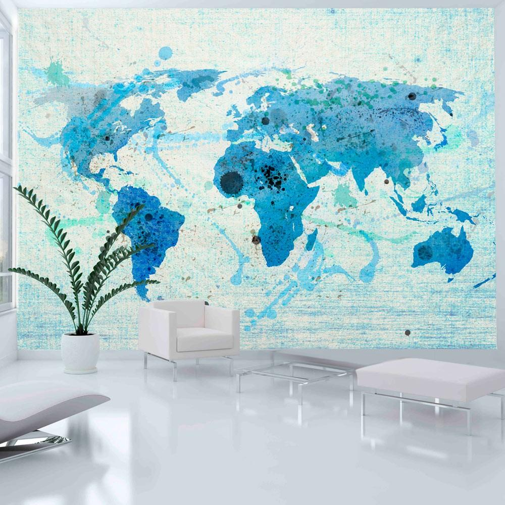 Fotomurale - Cruising And Sailing - The World Map 350X270Cm Carta Da Parato Erroi
