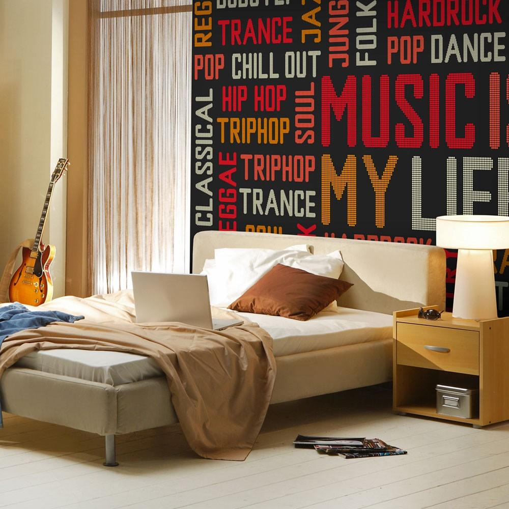 Fotomurale - Music Is My Life 350X270Cm Carta Da Parato Erroi