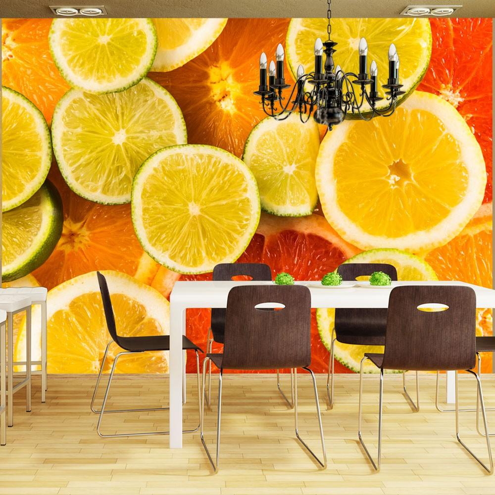 Fotomurale - Citrus Fruits 350X270Cm Carta Da Parato Erroi