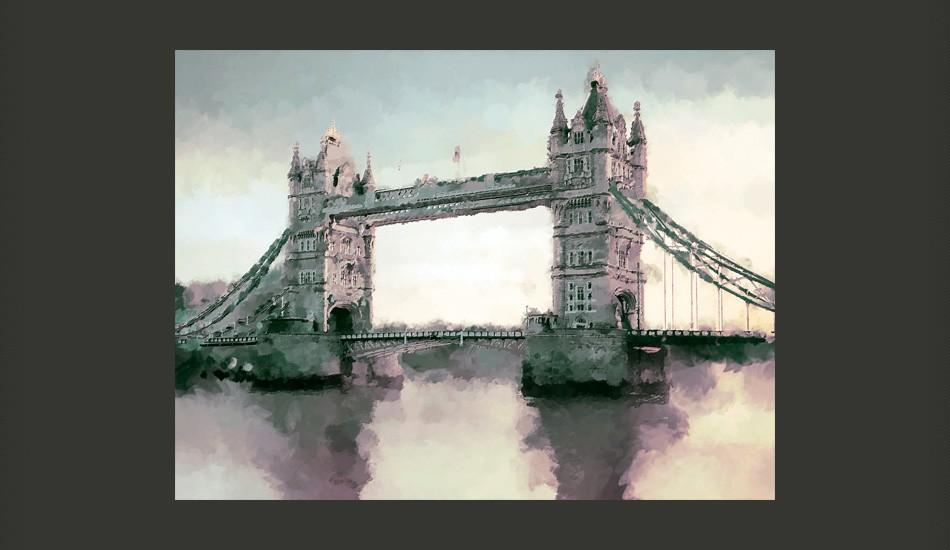 Fotomurale - Vittoriano Tower Bridge 350X270Cm Carta Da Parato Erroi
