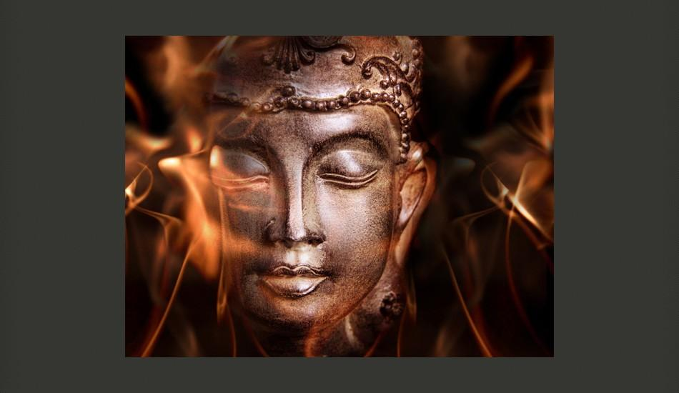 Fotomurale - Buddha. Fire Of Meditation. 350X270Cm Carta Da Parato Erroi